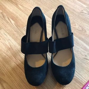 Gianni Bini - black, suede heels